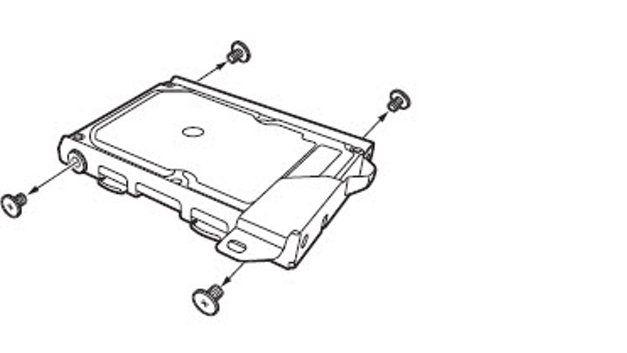 Remover Parafusos do Suporte de HDD