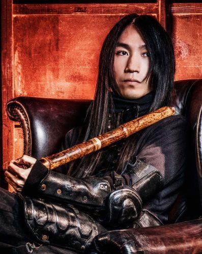 Flauta shakuhachi por Yosuke Irie no Museu do Oriente