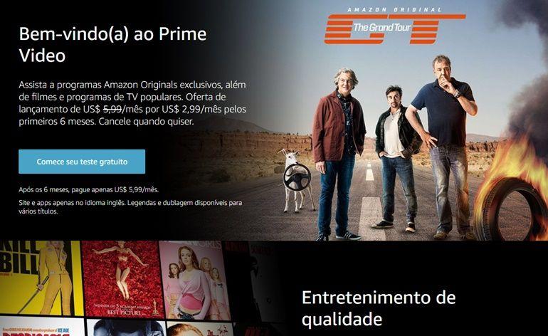 Serviço de streaming da Amazon chega ao Brasil e em Portugal
