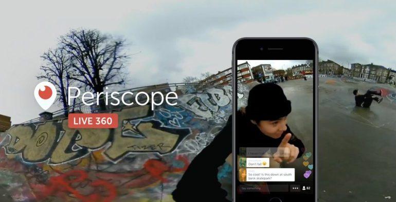 Twitter Periscope Live Stream 360º