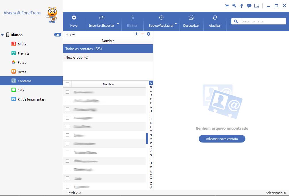Unir informação de contatos