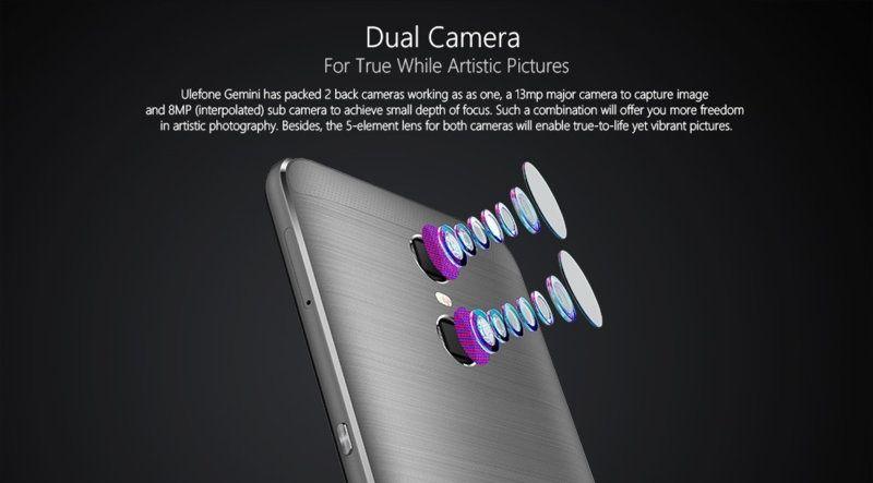 Ulefone Gemini dual camera