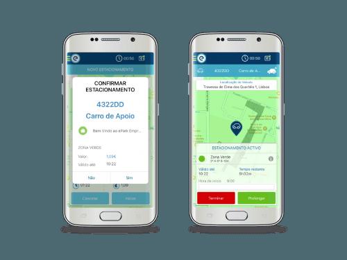 0 App, emel, epark, ePark empresas, estacionamento, Lisboa, smartphone