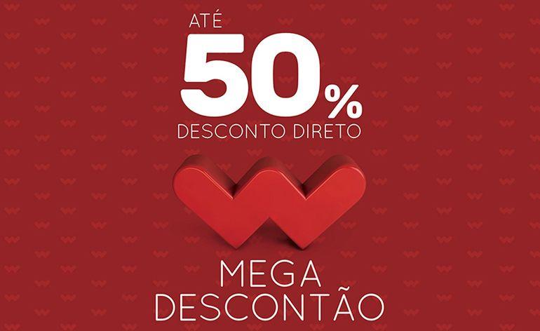 Campanha Mega Descontão da Worten com descontos diretos até 50%