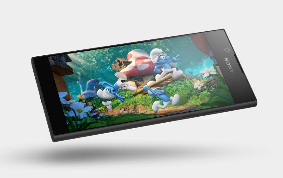 O reconhecido design da Sony, com um grande ecrã HD de 5.5 polegadas