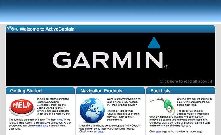 Garmin compra ActiveCaptain