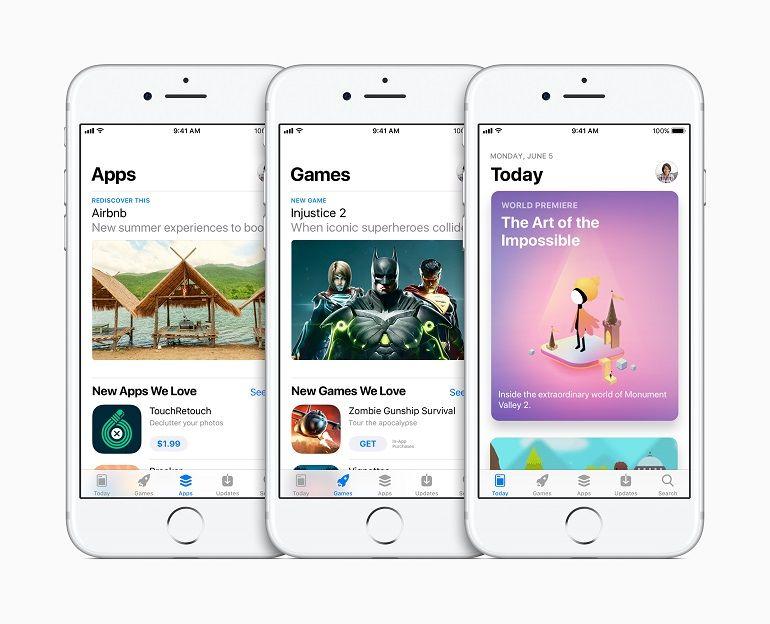 new app store three iphones apps games today App Store, apple, apps, jogos, wwdc17