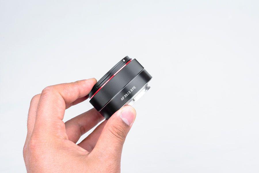 Samyang  nova objetiva autofocus AF 35mm F2.8 FE