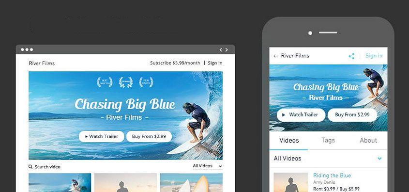 Os layouts criados através da aplicação Wix Video adaptam-se às diferentes resoluções de ecrãs