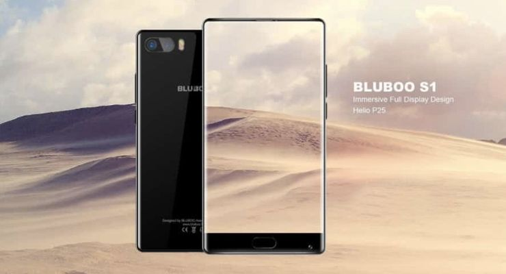 Bluboo S1 smartphone sem margens