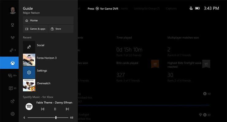 Spotify na Xbox One