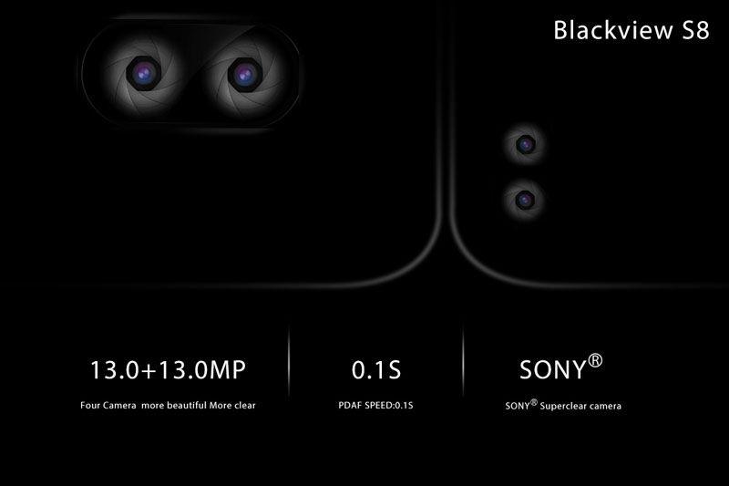 topo de gama da Blackview parece apresentar um total de 4 câmaras fotográficas