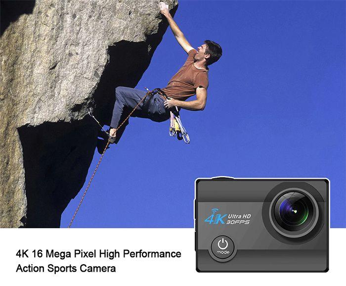 q3h2action 4K, action camera, câmara de acção, GoPro, TomTop