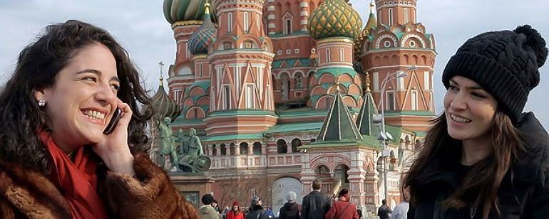 Maria Manoella e Martha Nowill no filme Vermelho Russo