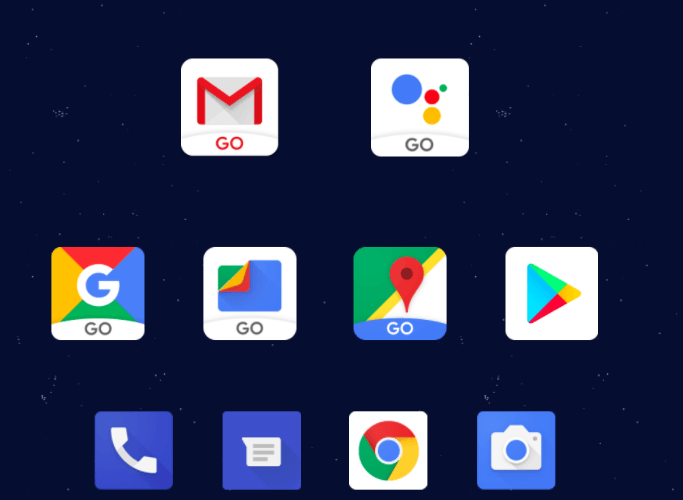 Android Oreo Go Edition apps