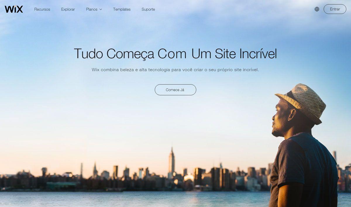 Wix.com é uma plataforma online de criação e edição de sites