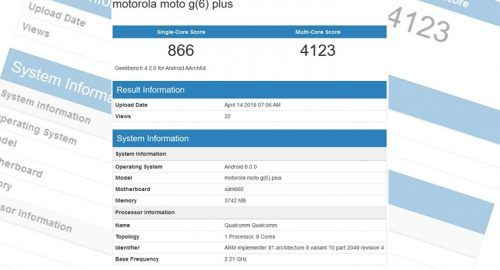 Moto G6 Plus Geekbench