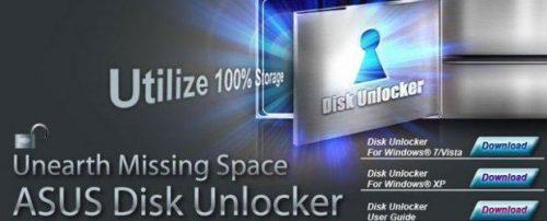 Asus Disk Unlocker1 Asus, disk unlocker