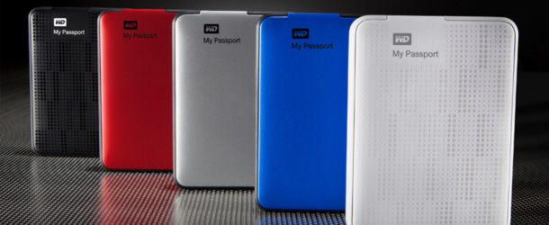discos portáteis My Passport com capacidades de 500GB, 750GB e 1TB
