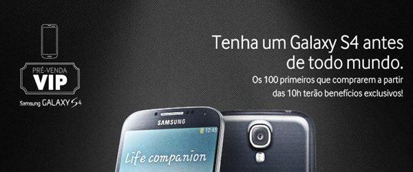 Pré-venda do Galaxy S4 acontecerá em São Paulo