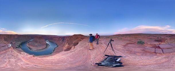 Fotografia do Horseshoe Bend tirada através do Photo Sphere e exibida como uma imagem plana (Foto: Reprodução/Colby Brown Photography)