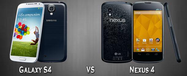 Galaxy S4 VS Nexus 4