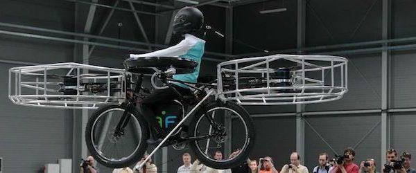 bicicleta voadora manequim voa em bicicleta