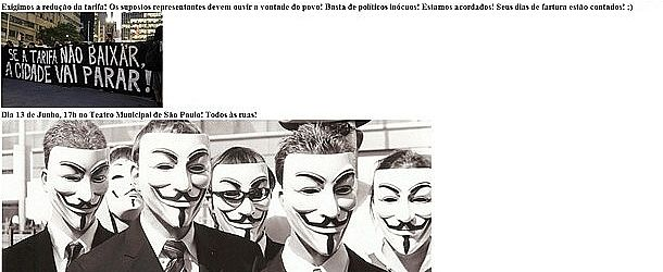 Anonymous invade site da Secretaria de Educação de SP durante a noite desta quarta-feira