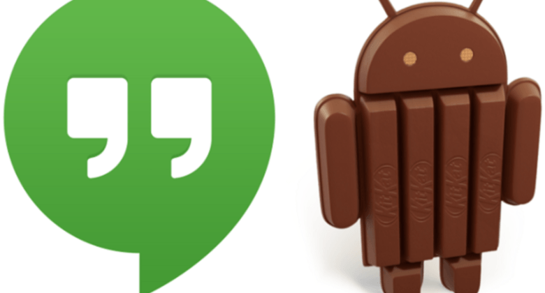 Hangouts SMS Android 4.4 KitKat1 google, Hangouts