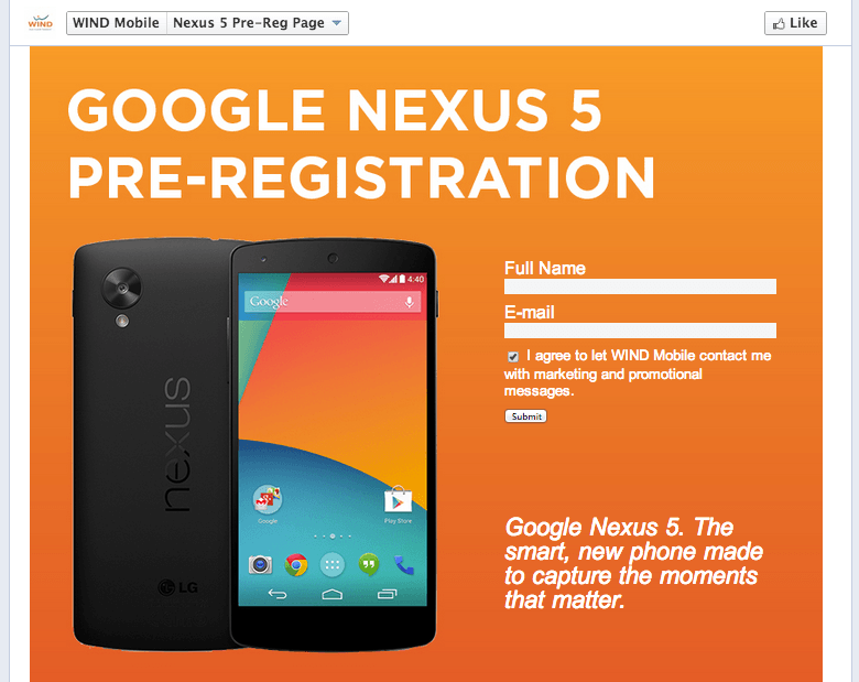 Nexus 5 Wind