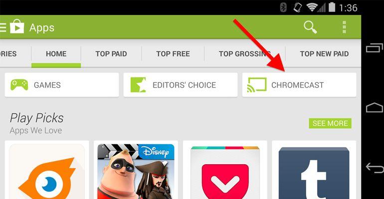 Chromecast Google Play