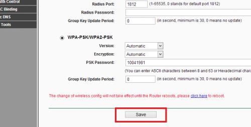 Como mudar senha wifi no roteador tp link (7)