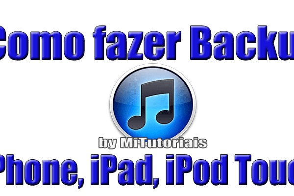Backup iphone com iTunes
