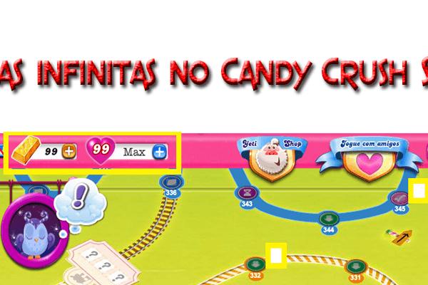 Vidas infinitas no Candy Crush Saga1 candy crush saga