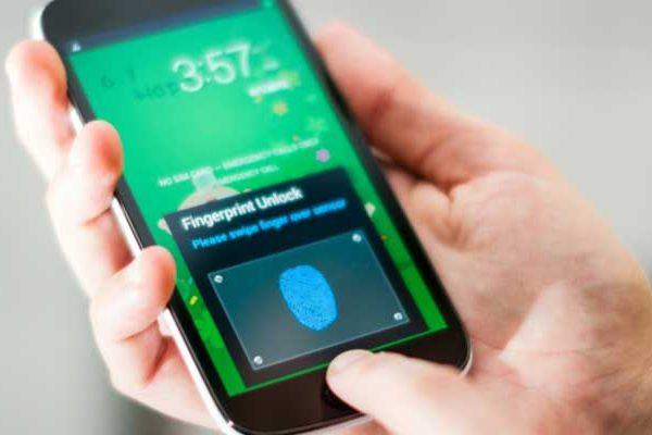 Samsung leitor de impressões digitais