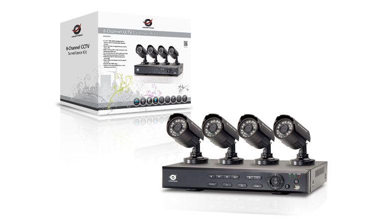 Kit de vigilância da Conceptronic liga até oito câmaras em simultâneo