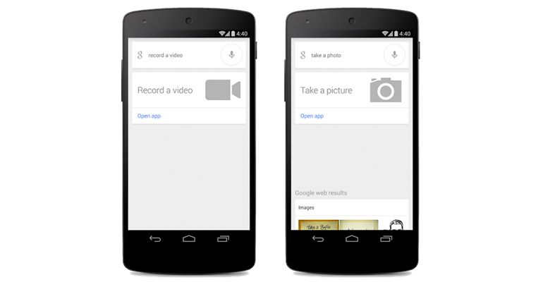Google Search take picture record video