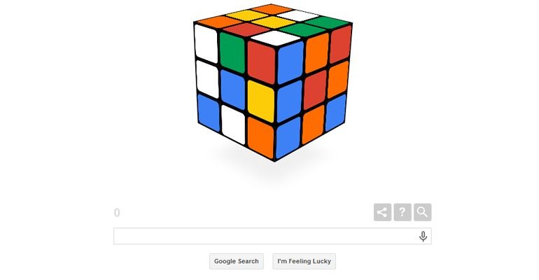 Cubo de Rubik Google Doodle