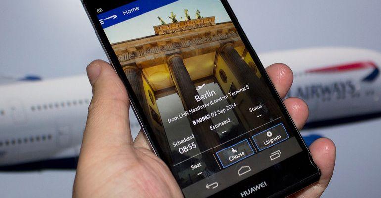 Aplicação British Airways Android