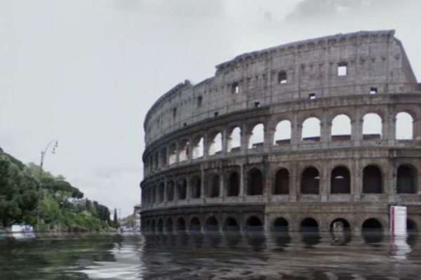 Google Street View inundado