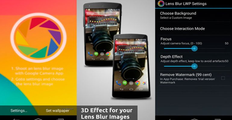 Lens Blur Live Wallpaper