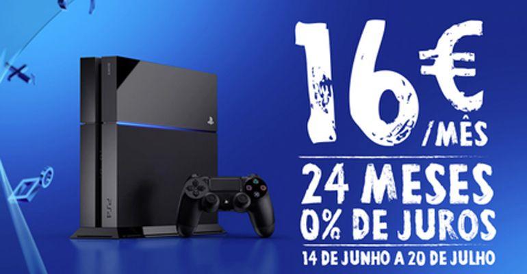 PlayStation 4 apenas 16 euros mês