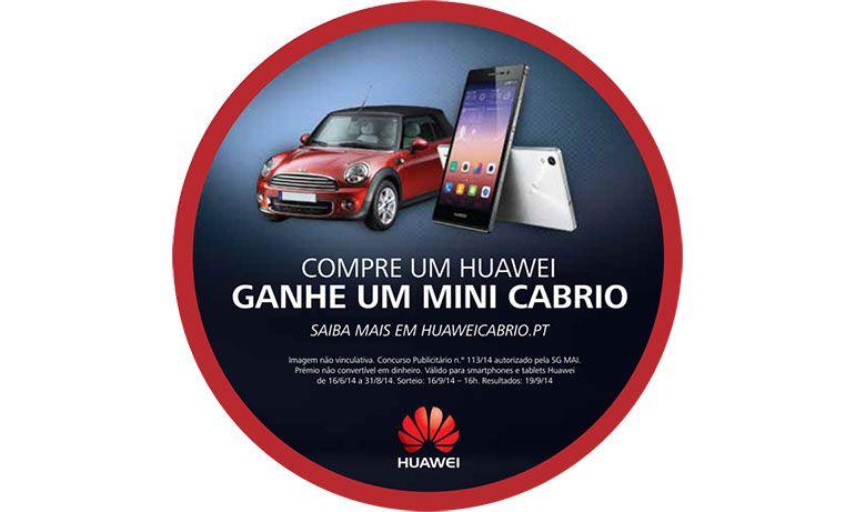 Campanha Huawei de Verão com sorteio de um Mini Cabrio