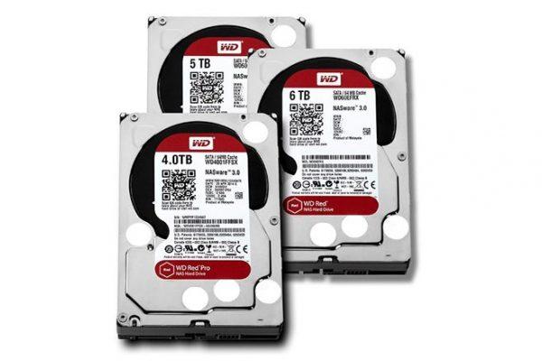 linha de discos rígidos WD Red para sistemas NAS domésticos e de pequenos escritórios