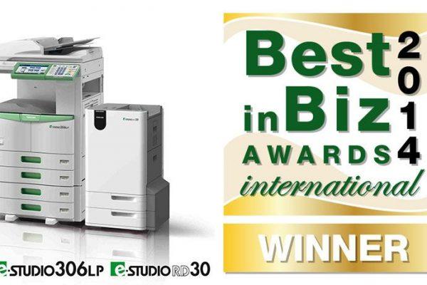 "Toshiba distinguida com Ouro nos ""Best in Biz Awards 2014 International"""