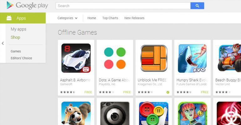 Google Play ganha secção Offline