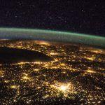Nasa: parte da França à noite