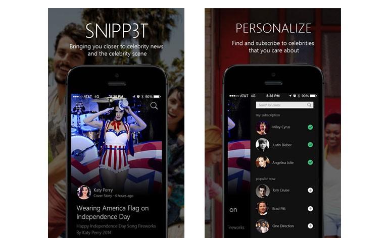 SNIPP3T: a app para iPhone que permite seguir as celebridades