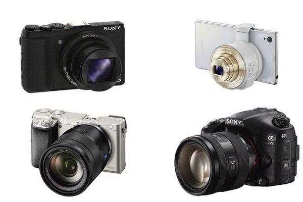 Câmaras fotográficas da Sony com Wi-Fi