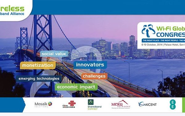Congresso Mundial de Wi-Fi, evento de 5 dias organizado pela WBA - Wireless Broadband Alliance